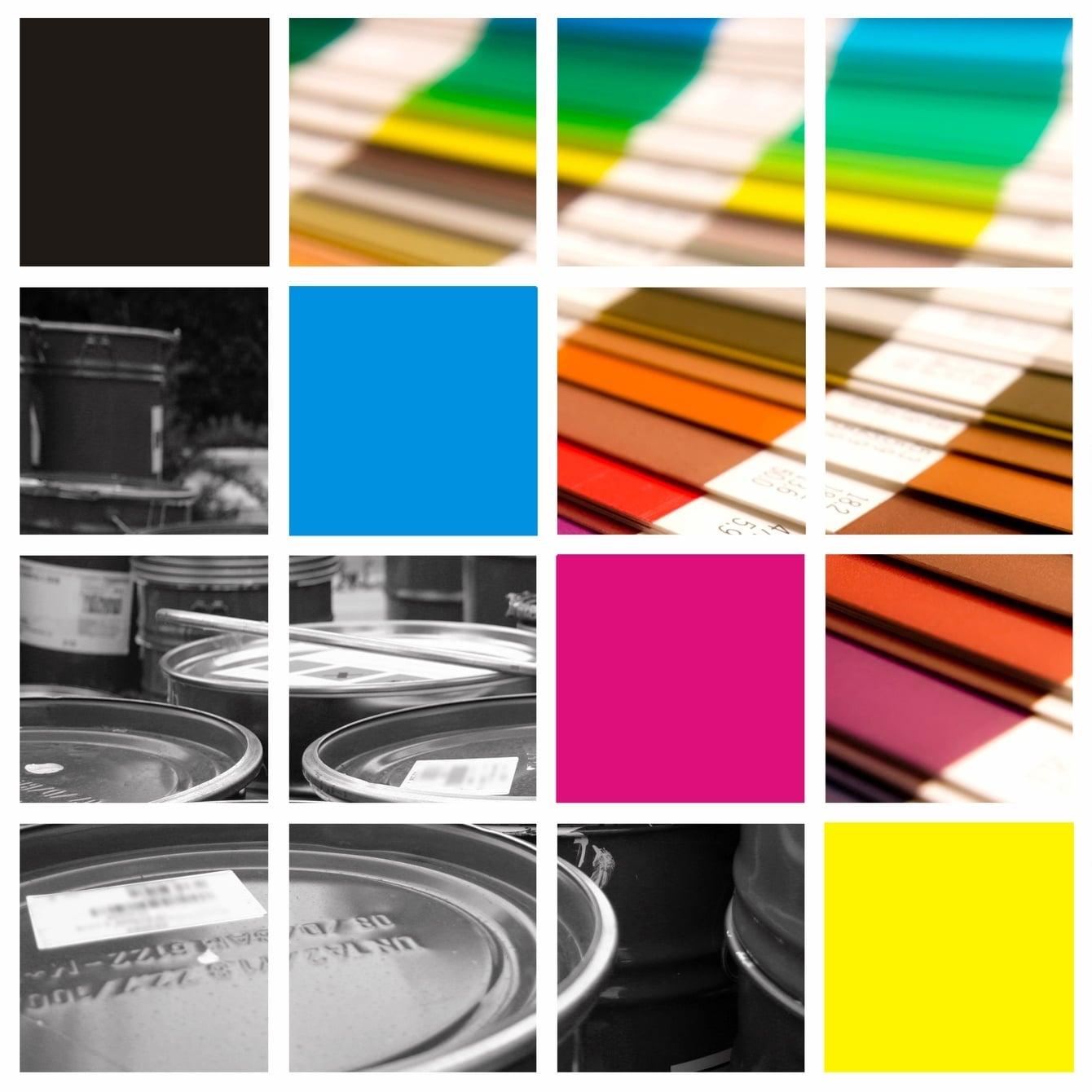 Colour pigment pantone guide