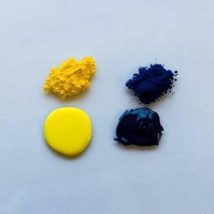Pigment powder and liquid paint