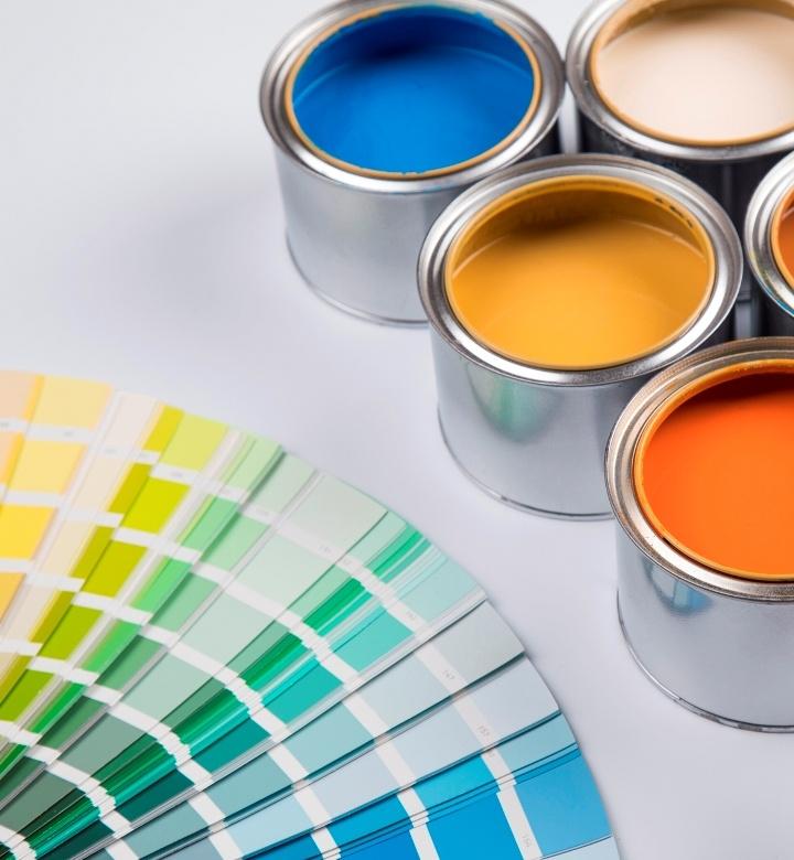 Colour palette for industrial paint